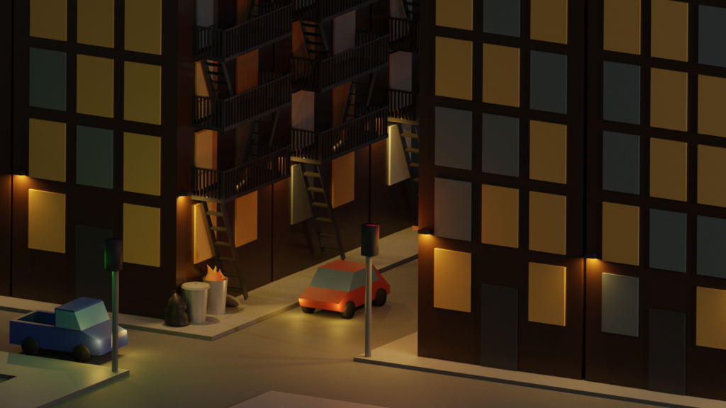 Low Poly City Corner